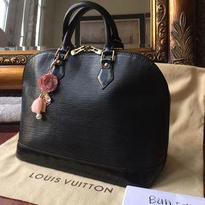Authentic Louis Vuitton black epi alma